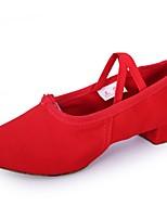 Women's Latin Oxford Split Sole Practice Chunky Heel Blushing Pink Ruby Black Under 1