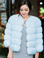 Women's Wrap Bridal Shrugs Faux Fur Wedding / Party/ Evening / Casual Long Sleeve Fur Coats/Jacket