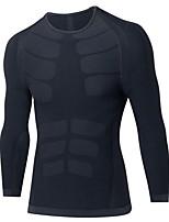Hombre Manga Larga Transpirabilidad Alta elasticidad Ligeras Camiseta Sudadera Ropa de Compresión Top para Jogging Ciclismo Ejercicio y