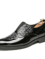 Men's Loafers & Slip-Ons Comfort Spring Summer Leatherette Casual Black Flat