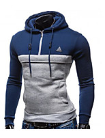 Men's Casual/Daily Hoodie Color Block Hooded Inelastic Acrylic Long Sleeve Spring Fall