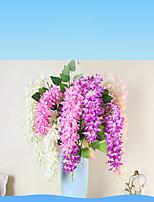 1 Ramo Poliéster Outras Guirlandas & Flor de Parede Flores artificiais