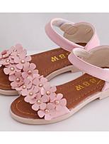 Girls' Flats Comfort Summer Leatherette Casual Blushing Pink White Flat