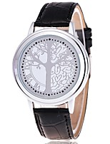 Women's Fashion Watch Quartz Leather Band Casual Tree Black