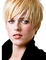 Fluffy New Cool  Short Straight Human Hair Wigs For Women
