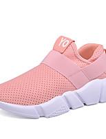 Для мужчин Кеды Удобная обувь Ткань Весна Осень Повседневные На плоской подошве Белый Черный Розовый 7 - 9,5 см