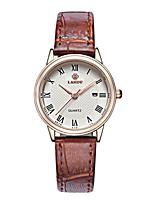 Жен. Модные часы Кварцевый Защита от влаги Натуральная кожа Группа Коричневый