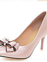 Women's Shoes PU Spring Comfort Heels For Casual White Blushing Pink