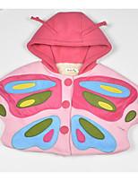 Girls' Polka Dots Color Block Trench Coat