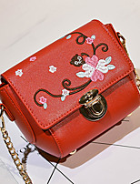Women Bags All Seasons PU Shoulder Bag with Zipper for Event/Party Casual Outdoor Office & Career White Black Red Blushing Pink