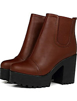 Для женщин Обувь Нубук Полиуретан Весна Удобная обувь Ботинки Назначение Повседневные Коричневый Миндальный