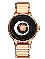Femme Montre Tendance Quartz Alliage Bande Doré Or Rose