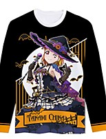 Inspired by Love Live Cosplay Anime Cosplay Costumes Cosplay T-shirt Cartoon Long Sleeves Top For Unisex