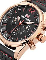 Herrn Sportuhr Modeuhr Armbanduhr Einzigartige kreative Uhr Armbanduhren für den Alltag Quartz Kalender Echtes Leder Band Bettelarmband