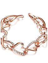 Femme Chaînes & Bracelets Zircon cubique Mode Plaqué or Forme de Coeur Bijoux Pour Soirée