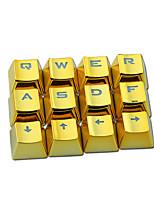 E-élément texture métallique clapet transparent pbt 12 clés plaquage set de touches pour clavier mécanique