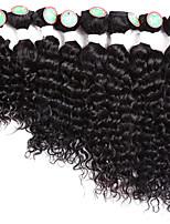 Tresses bouclés Bouclé Cheveux Rebondissant Jamaicains Cheveux 100 % Kanekalon Noir Noir / Bourgogne Extensions de cheveux Cheveux Tressée