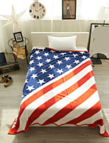 Coral fleece Flag Polyester/Cotton Blend Blankets