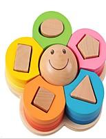 Flower Shape Wooden Spell Building Blocks For Toys