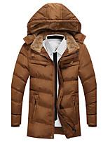 Пальто Винтаж Простое Длинная На подкладке Для мужчин,Однотонный Полоски На выход На каждый день Полиэстер Полиэстер,Длинный рукав