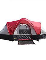 > 8 personas Tienda Doble Carpa para camping Tienda de Campaña Plegable Impermeable Resistente al Viento Resistente a la lluvia Filtro