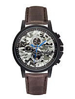 Men's Fashion Watch Quartz Fabric Band Casual Red Brown Grey