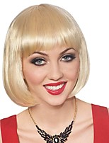 Short High Temperature Fiber Straight Synthetic Hair BOBO Wigs Blonde Hair for Women