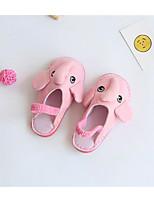 Девочки Обувь Ткань Весна Осень Удобная обувь Обувь для малышей Башмаки и босоножки Назначение Повседневные Серый Розовый Светло-синий