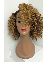 NEW!!!! T1B/4/27 Big Curly Glueless Full Lace Wigs With Baby Hair 100% Brazilian Virgin Hair Wigs for Black Woman