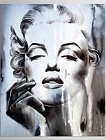 Impresiones en Lienzo Estirado Abstracto,Un Panel Lienzos Vertical Estampado Decoración de pared For Decoración hogareña