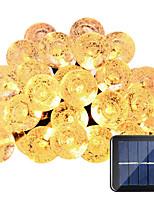 lampes solaires hkv® 6m 30led étanche à l'eau fée jardin extérieur fête de Noël décoration chaîne lumière