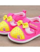 Девочки На плокой подошве Удобная обувь Обувь для малышей Хлопок Лето Повседневные Пурпурный Розовый Светло-Розовый На плоской подошве