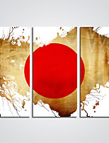 Canvas Print  A Red Sun Picture Print on Canvas for Decoration Ready to Hang