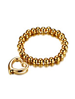 Women's Chain Bracelet Love Cute  Fashion Gold Titanium Steel Heart Jewelry For Wedding Engagement Ceremony Evening Party