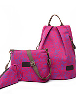 Women Bags All Seasons Nylon Bag Set with for Casual Black Red Fuchsia Brown