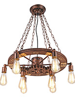 Vintage Pendant Lights Turnable Wood Gear Creative Industrial Lamp American Style For Living Room Restaurant Bars  Decoration Light Fixture