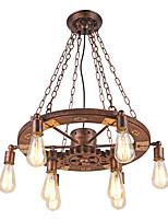 Luces colgantes de la vendimia engranaje de madera giratorio lámpara industrial creativa estilo americano para la sala de estar barras de