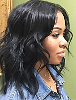 Natural Hairline 150% Density Short Bob Lace Front Wigs with Baby Hair 8''-14'' Peruvian 100% Virgin Human Hair Glueless Lace Front Wigs Natural Color