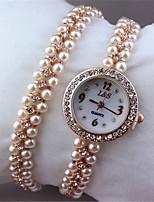 Mulheres Relógio de Moda Quartzo Lega Banda Branco