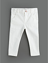 Girls' Solid Jeans-Cotton Spring Fall