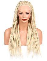 Long Straight Braids Synthetic Lace Front Wig Blonde Color Braid Crochet Synthetic Wigs