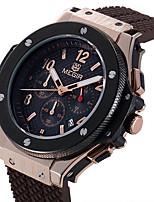 MEGIR Homens Relógio Esportivo Relógio de Moda Relógio de Pulso Único Criativo relógio Relógio Casual Relógio Madeira Quartzo Calendário