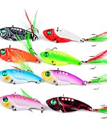 8 pcs Fishing Lures Metal Bait Vibration/VIB g/Ounce,55 mm/2-1/4
