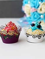 50pcs/lot Filigree Vine Laser Cut Cupcake Wrappers Wedding Birthday Baby Shower and Tea  party Decoration Supplies