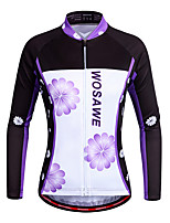 Cycling Jersey Women's Long Sleeve Bike Jersey Quick Dry Stretchy Breathability Polyester Fashion Spring/FallMountain Cycling Road