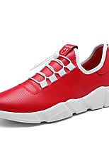 Men's Athletic Shoes Comfort Light Soles Spring Fall Breathable Mesh Net Tulle PU Track & Field Shoes Athletic Outdoor Lace-up Flat Heel