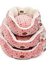 Dog Bed Pet Mats & Pads Footprint/Paw Polka Dots Warm Soft Blushing Pink Blue