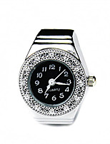 Women's Fashion Watch Ring Watch Quartz Alloy Band Silver