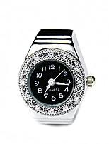 Жен. Модные часы Часы-кольцо Кварцевый сплав Группа Серебристый металл