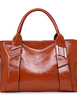 Women Bags All Seasons Cowhide Tote with for Casual Formal Brown